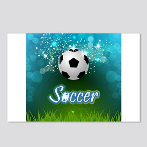 Soccer creative poster Postcards (Package of 8)