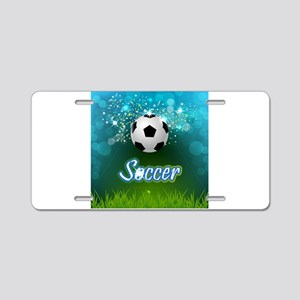 Soccer creative poster Aluminum License Plate