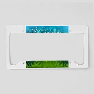 Soccer creative poster License Plate Holder