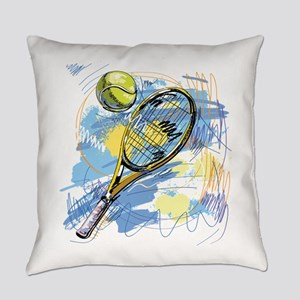 Hand drawn with graffiti tennis sp Everyday Pillow