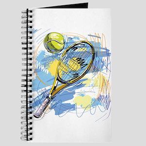 Hand drawn with graffiti tennis sport Journal