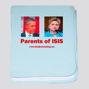 Obama/Hillary - Parents of ISIS baby blanket