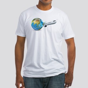 World transport design with globe and plan T-Shirt