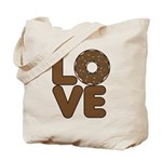 Donut Love Chocolate Tote Bag