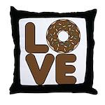 Donut Love Chocolate Throw Pillow