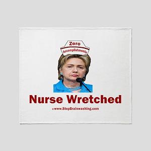 Hillary Nurse Wretched Throw Blanket