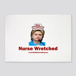 Hillary Nurse Wretched 5'x7'Area Rug