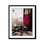 Curious Monk Framed Panel Print