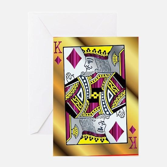 Cute King diamonds Greeting Card