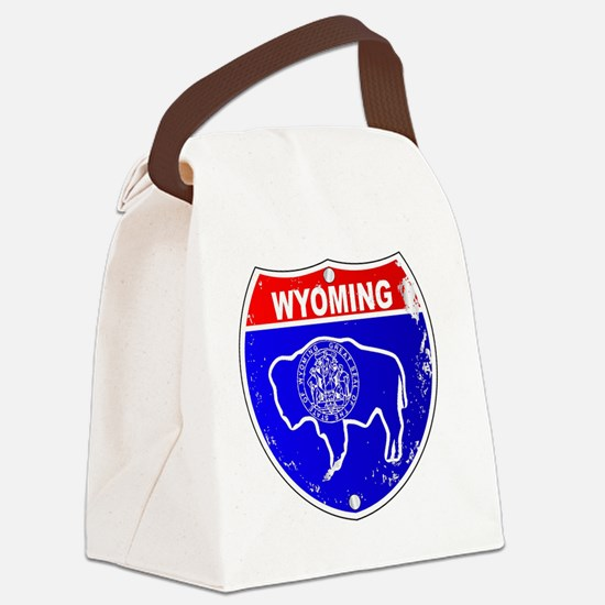 Cute Red state Canvas Lunch Bag