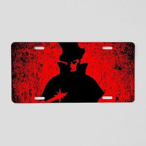Jack the Ripper Blood Backg Aluminum License Plate