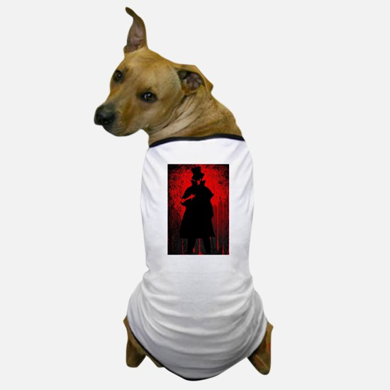 Jack the Ripper Blood Background Dog T-Shirt