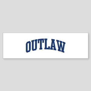 OUTLAW design (blue) Bumper Sticker