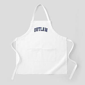 OUTLAW design (blue) BBQ Apron