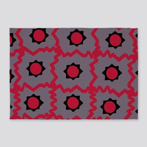 Crazy space orb plaid 5'x7'Area Rug