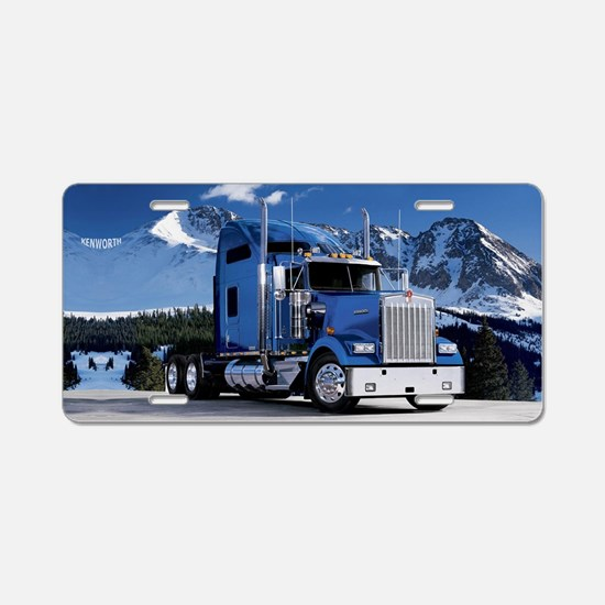 Funny Trucking Aluminum License Plate