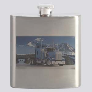 Mountain Blue Kenworth Flask