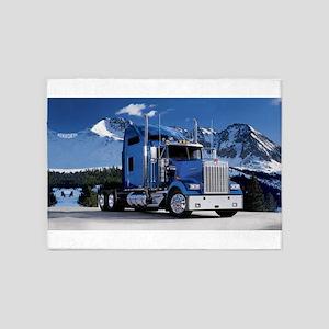 Mountain Blue Kenworth 5'x7'Area Rug