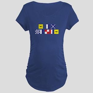 I am Nauti Maternity Dark T-Shirt