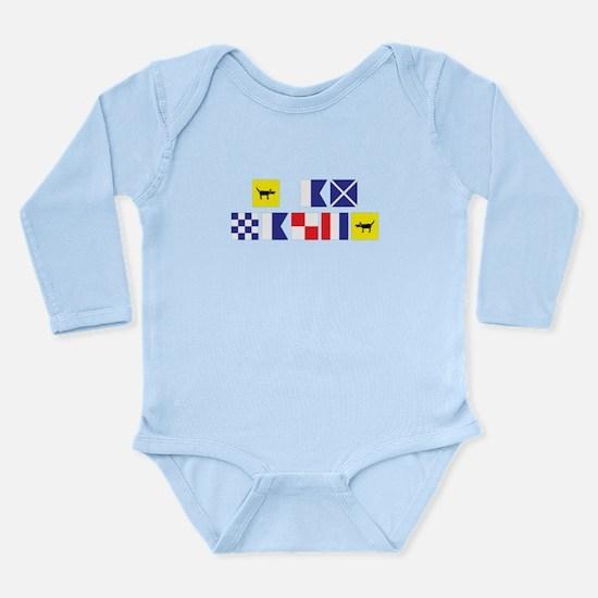 I am Nauti Long Sleeve Infant Bodysuit