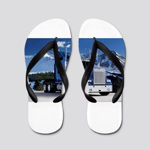Mountain Blue Kenworth Flip Flops