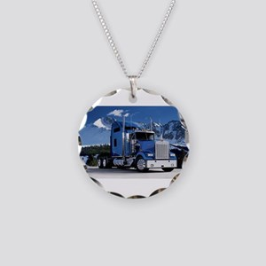 Mountain Blue Kenworth Necklace Circle Charm