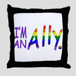 I'm an ALLY Throw Pillow
