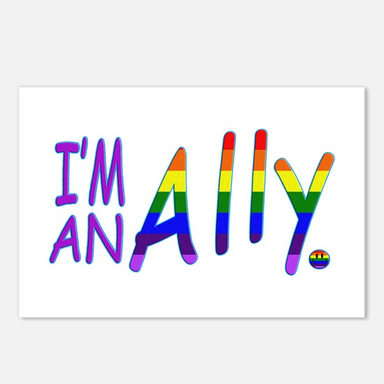I'm an ALLY Postcards (Package of 8)