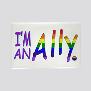 I'm an ALLY Rectangle Magnet