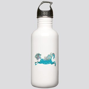 Designed blue horse Stainless Water Bottle 1.0L