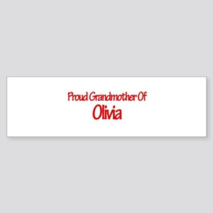 Proud Grandmother of Olivia Bumper Sticker