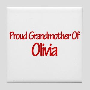 Proud Grandmother of Olivia Tile Coaster