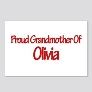 Proud Grandmother of Olivia Postcards (Package of