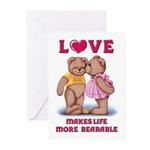 Teddy Love Cards (Pk of 10)