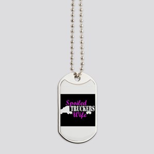 Spoiled Truckers Wife Dog Tags