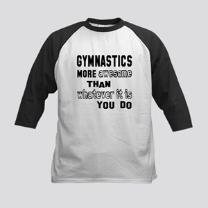 Gymnastics more awesome than Kids Baseball Jersey