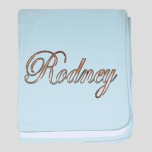 Gold Rodney baby blanket