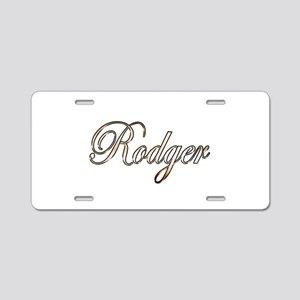 Gold Rodger Aluminum License Plate