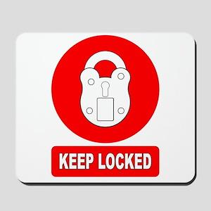 Keep Locked Padlock Sign Mousepad