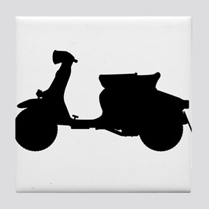 Scooter Silhouette Tile Coaster