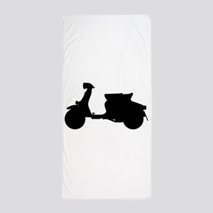 Scooter Silhouette Beach Towel