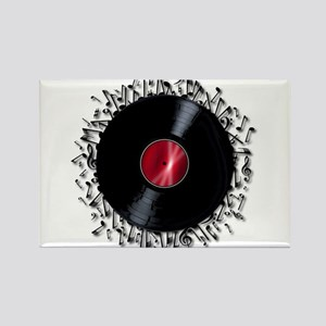 Musical Notes Record Magnets