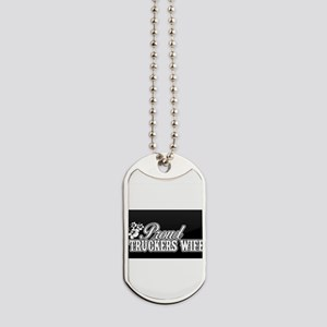 proud truckers wife Dog Tags