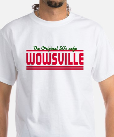 Wowsville 50's cafe White T-Shirt