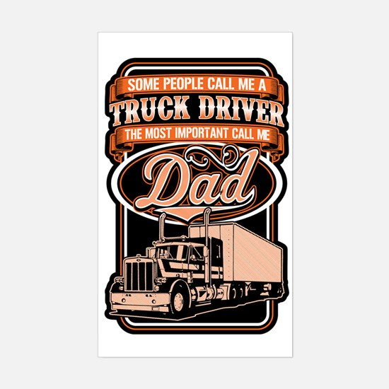 Cute Trucker Sticker (Rectangle)