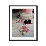 <b>Tibetan Monks' Boots</b><br> Framed Panel Print