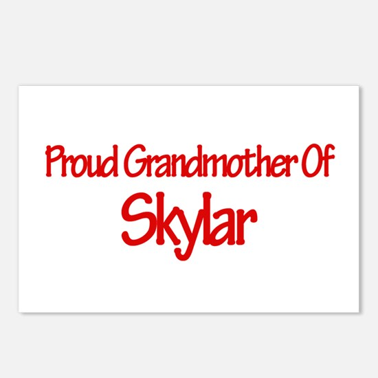 Proud Grandmother of Skylar Postcards (Package of