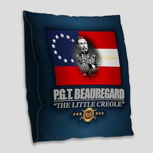 Beauregard (Southern Patriot) Burlap Throw Pillow