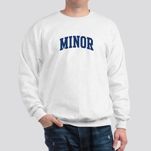 MINOR design (blue) Sweatshirt