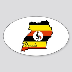 Cool Uganda Oval Sticker